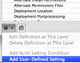 Add User Defined Setting