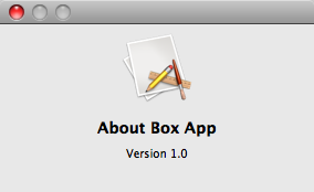 Default About Box