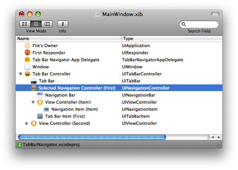 how to open interface builder in xcode