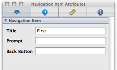 Navigation Item Attributes