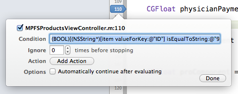 Xcode LLDB Tutorial: Conditionals