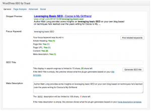 Leveraging Basic SEO: General SEO Details