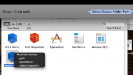Connect Select Output Folder Path Button