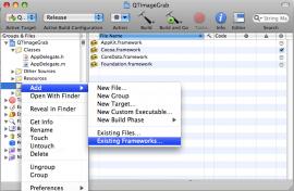 Add Existing Frameworks