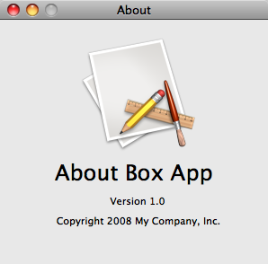 New About Box Bold Name