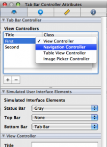 Select Navigation Controller