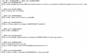 Xcode LLDB Tutorial: Expanded URLs list