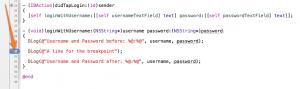Xcode LLDB Tutorial: Login Code